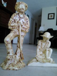 New Mexico Miner and trapper statues