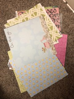 Stack Of Brand New Multi Colors and Designs Scrapbooking Paper. All For $10.00