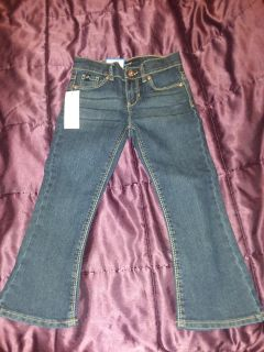 Girls size 4t jeans new with tags adjustable waist