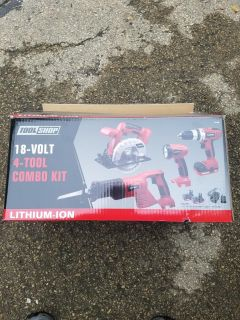 4-Tool Lithium Ion kit-open box but never used