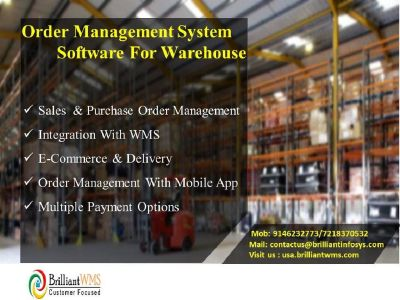 Web Based Online Order Management System Software.