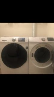 Samsung smart he large capacity washer and dryer
