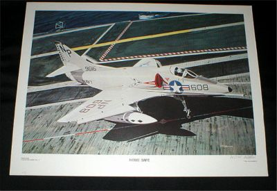 "NAVY Aviation Art Print - ""HOME SAFE"" - Signed & Numbered by Hal McCormick"