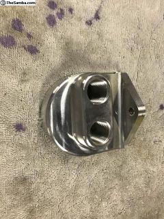 Billet oil filter mount