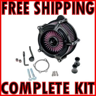 Sell RSD ROLAND SANDS DESIGN BLACK TURBINE AIR CLEANER KIT 08-2014 HARLEY TOURING motorcycle in Zieglerville, Pennsylvania, US, for US $385.95