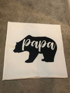 Papa Bear throw pillow cover