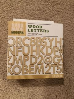 NEW Wood Letters