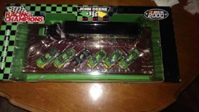 $22 NASCAR 2000 John Deere six piece set with transporter