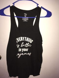 everything is better in your pajamas top size medium