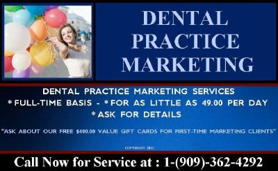 Dental Marketing for as Little as 49.00 Per Day.
