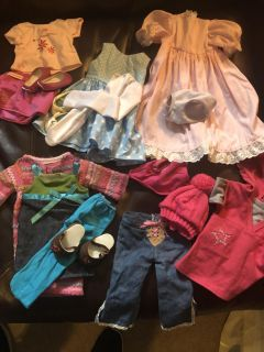5 18 inch doll and American Girl Doll outfits