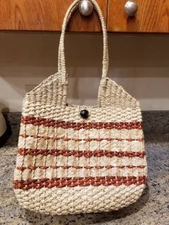 New woven thick purse/tote