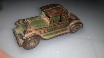 Very old toy car.