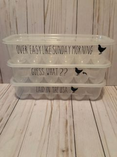 Plastic egg containers custom made $5 each