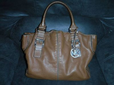 Michael Kors Leather Satchel Tote Purse