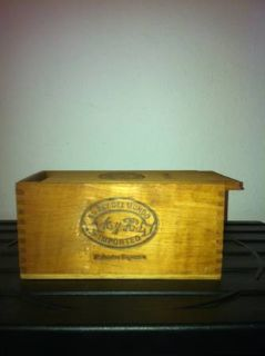 old wooden cigar box