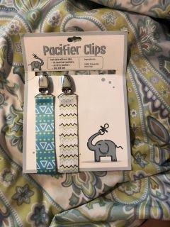 Never used pacifier clips