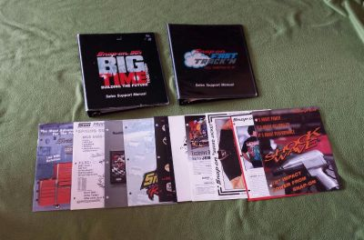 2 Snap-on Tools Binders & 10 Deal Pamphlets From the 90s