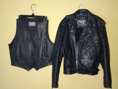 Leather Jacket and Vest