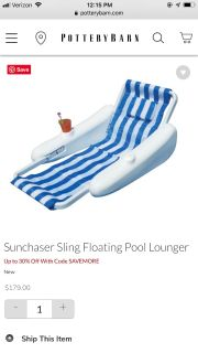 Ultimate pool lounger from pottery barn
