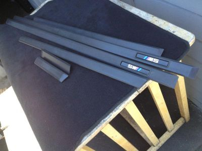 Sell BMW E39 M5 131K OEM 00 01 02 03 DOOR MOLDINGS TRIM IMPACT STRIPS INTACT! motorcycle in Watsonville, California, US, for US $199.00