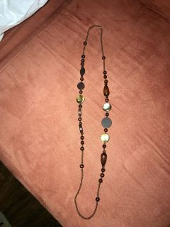 NWOT Brown bead necklace