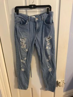 Forever 21 ripped jeans!
