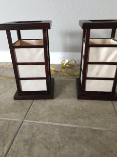 Pair of craftsman style Lamps