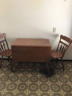 Table and 2 chairs