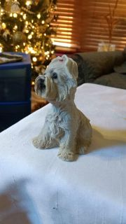 """4 1/4"""" Resin Dog w/Little Red Bow"""