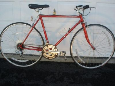 $190 Peugeot 12-speed road bike - 52cm
