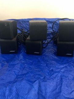 Bose home theater speakers, subwoofer and Yamaha receiver
