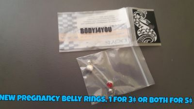 NEW pregnancy belly rings