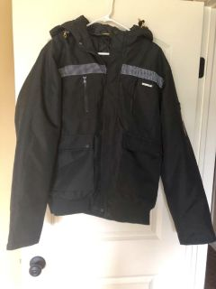 Men s Caterpillar Insulated Jacket With Hood. Worn Once. Like New. Size L. Porch pickup.