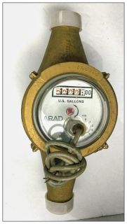"""New - Arad 3/4"""" Electric Output Water Meter"""
