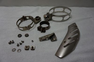 Find BMW Motorcycle R1200 GS 2005-07 Exhaust Can Brackets USED motorcycle in Bethel, Connecticut, United States, for US $125.00
