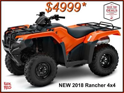 2018 Honda FourTrax Rancher 4x4 Utility ATVs Erie, PA