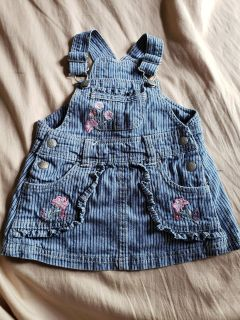 Super cute overall jean dress size 12mos