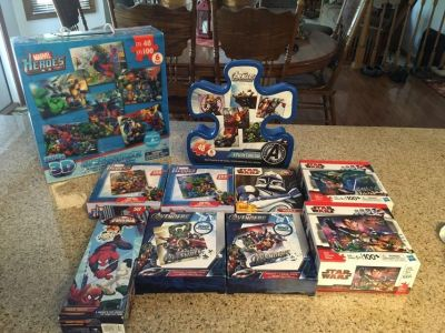 Marvel Heroes/Avenger and Star War puzzles