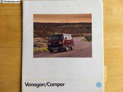 1990 Vanagon and Camper brochure