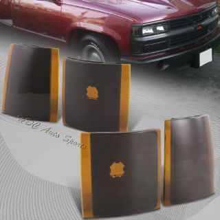 Purchase For 1994-1998 GMC C10 Truck Black Housing Amber Lens Turn Signal Corner Lights motorcycle in Walnut, California, United States