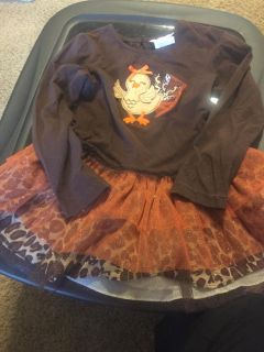 Girls Sz 6 baby doll Thanksgiving top