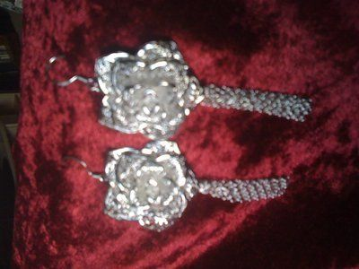 REDUCED!Rose Filigree sterling silver 925 earrings