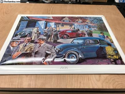 1936 Volkswagen Tin Poster/picture from factory