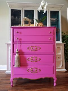 beautiful refurbished French provincial chest of drawers