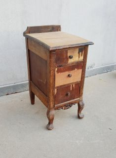 PROJECT Antique Vanity Table 3 Drawer Side Cabinet