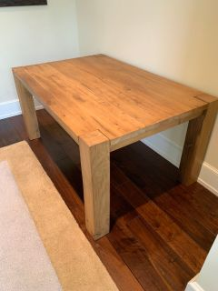 Reclaimed Oak Parsons Wooden Dining Table 60""