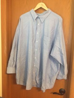 Men s Dress Shirt Denim Blue Color sz 20 33/4