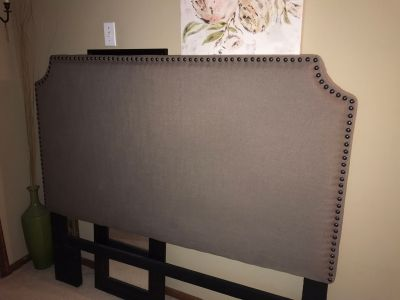 Queen Upholstered Headboard and bed frame