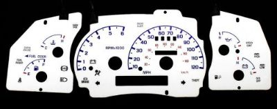 Buy 120MPH Indiglo White Face Euro Reverse Blue Glow Gauge New For 98-01 Ford Ranger motorcycle in Monterey Park, California, United States, for US $24.99